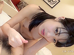 Handjob from 18 years old japanese schoolgirl